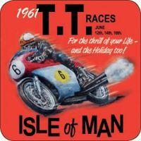 Original Metal Sign Co Melamine Coaster Isle of Man TT Races Vintage  Ad