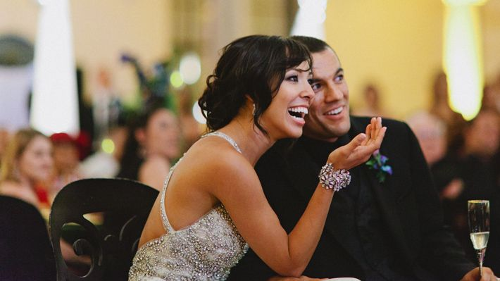 HE HAD HIS PROPOSAL VIDEOTAPED WITHOUT HER KNOWLEDGE AND PLAYED IT AT THEIR WEDDING