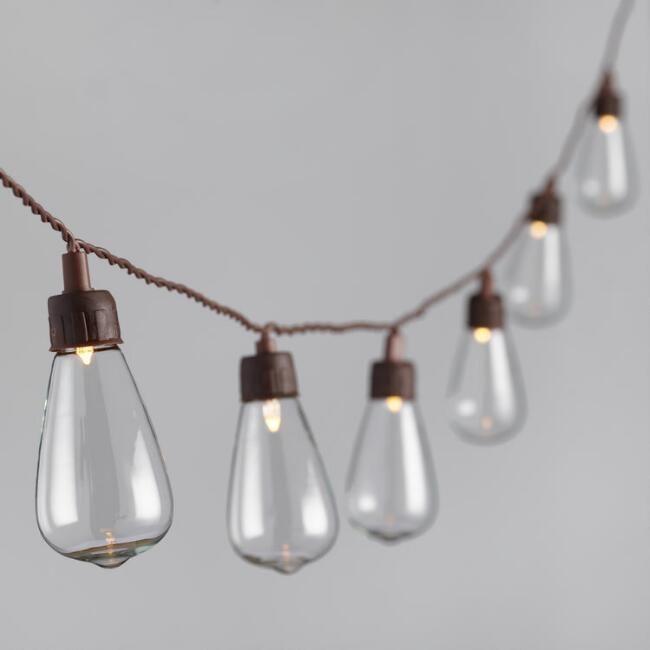Edison Style Solar LED 30 Bulb String Lights - v1