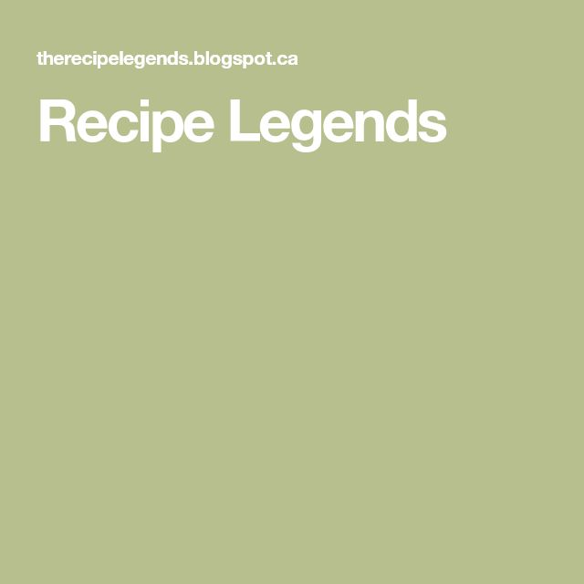 Recipe Legends