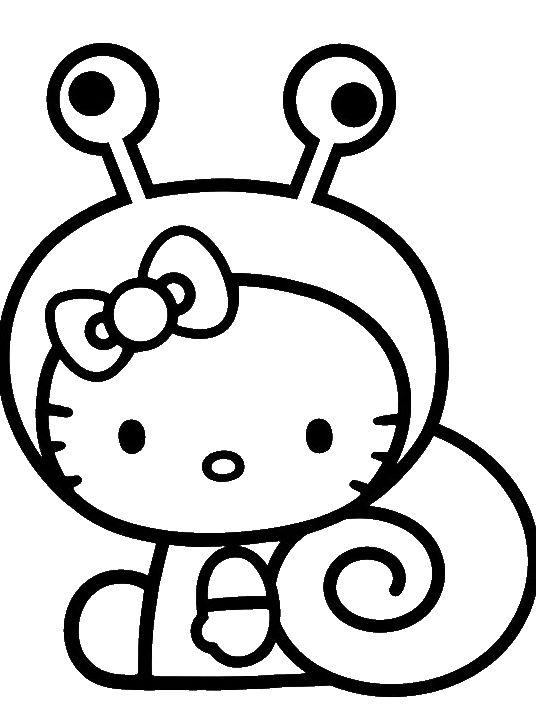 Hello Kitty Was Wearing A Cute Costume Coloring Page