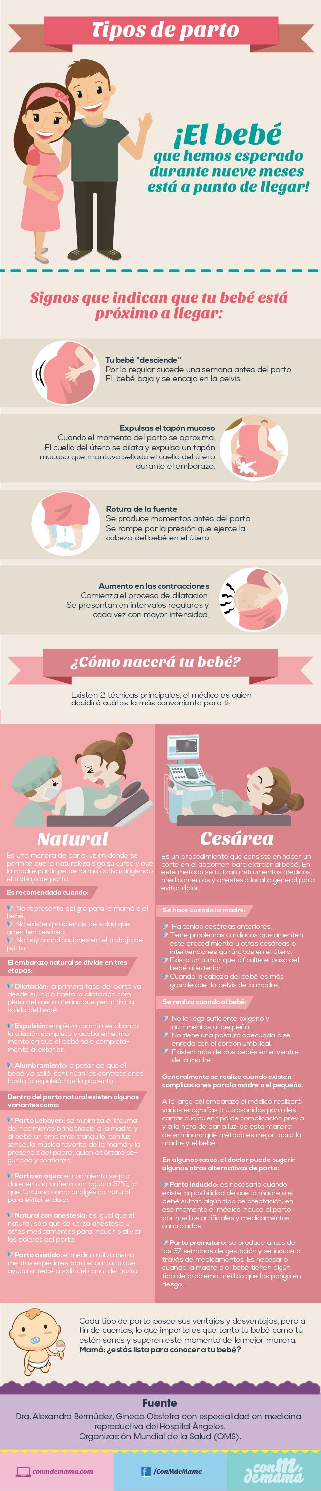 Tipos de parto http://conmdemama.com