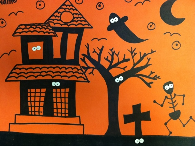 we heart art: More Spooky Silhouettes!