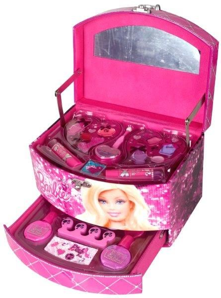 This Barbie Beauty Secret Jewellery Case is available at ...  |Barbie Makeup Kit For Kids