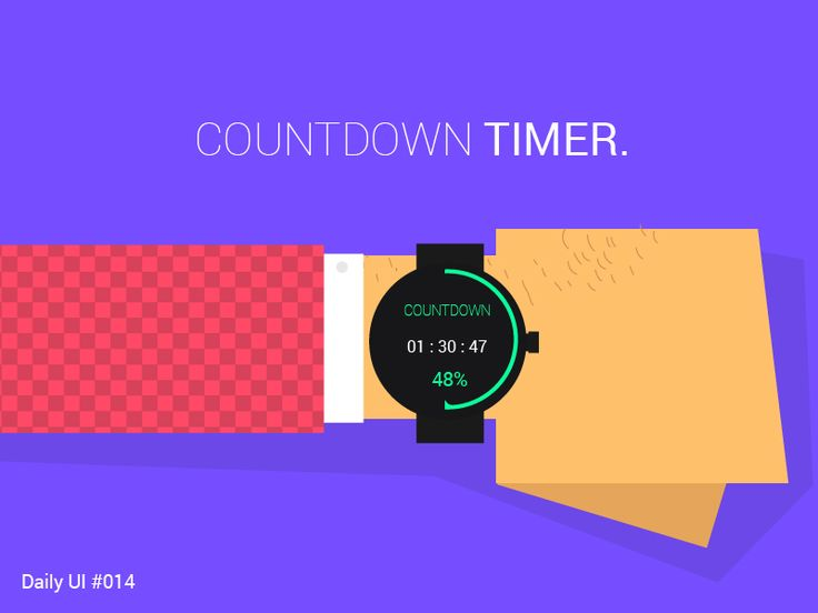 Countdown timer by Vishvector