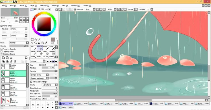 Illustration for booklet WIP #4 'Petrichor'
