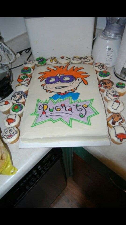 Rugrats Cake And Cupcake I Want Sweets Themed