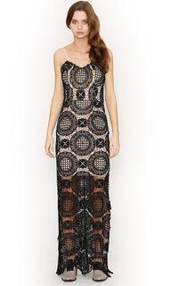 Ladies Dresses   Lucette Lace Maxi Dress   HONEY & BEAU