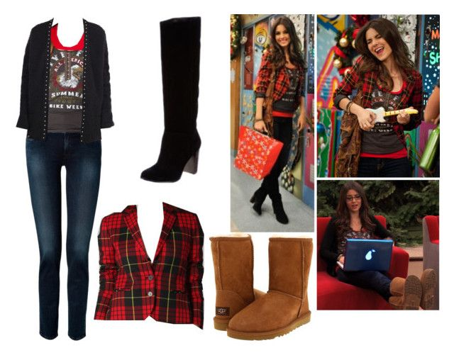 """""""Tori Vega- Nickelodeon's Victorious- A Christmas Tori"""" by brainyxbat ❤ liked on Polyvore featuring McQ by Alexander McQueen, 7 For All Mankind, American Apparel, Free People, UGG Australia, Yves Saint Laurent and BCBGeneration"""