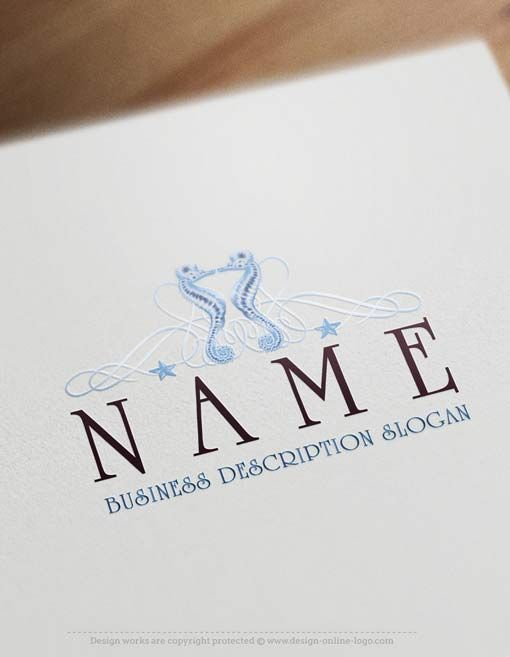 38 best best restaurant logos collection images on pinterest logo exclusive logo design seahorse logo template free business card reheart Gallery