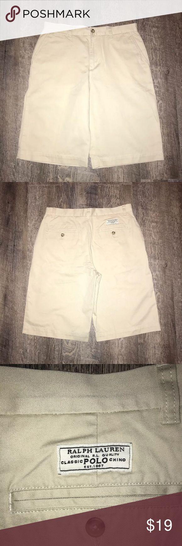 Polo Ralph Lauren Boys Chino Shorts Polo Ralph Lauren Boys Chino Shorts in excellent condition.  Size: 18 Color: Khaki Polo by Ralph Lauren Bottoms Shorts