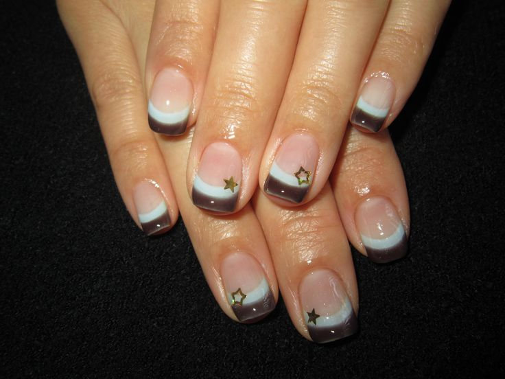 Double french gel nails