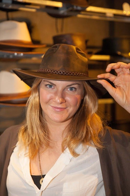 Joanna Christie known from The Broadway musical Once. (wearing a Crusher by American Outback Hats)