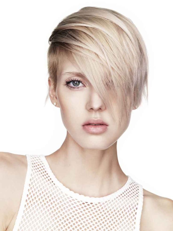Small blonde short hair