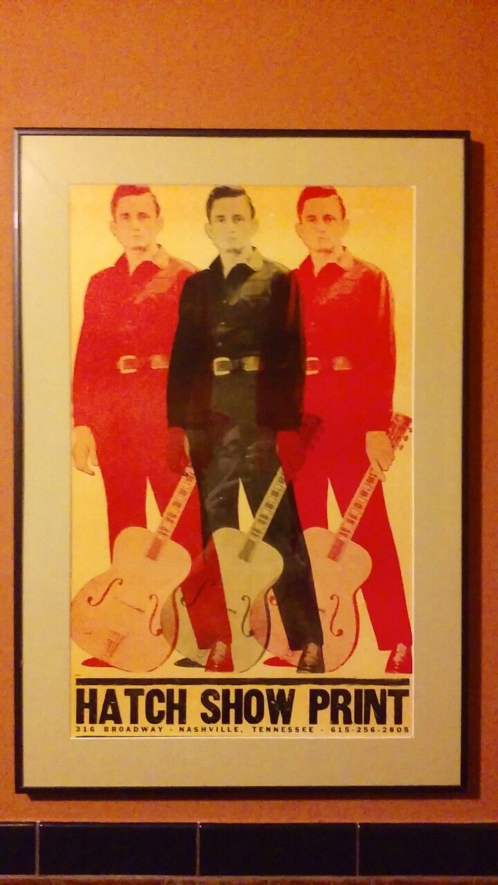 Johnny Cash triple by Hatch Show Print, seen at Zingerman's Roadhouse.