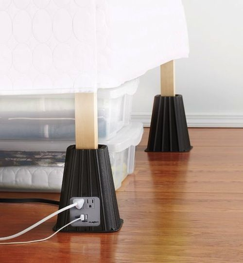 Look for organization ideas such as these #Dorm room bed #lifts