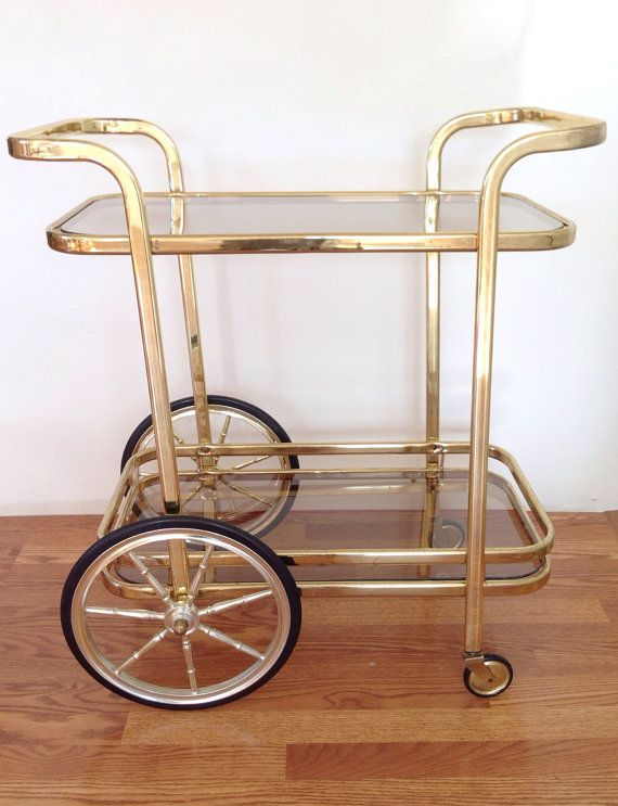 gold bar cart reserved for vintage regency bar cart 31166