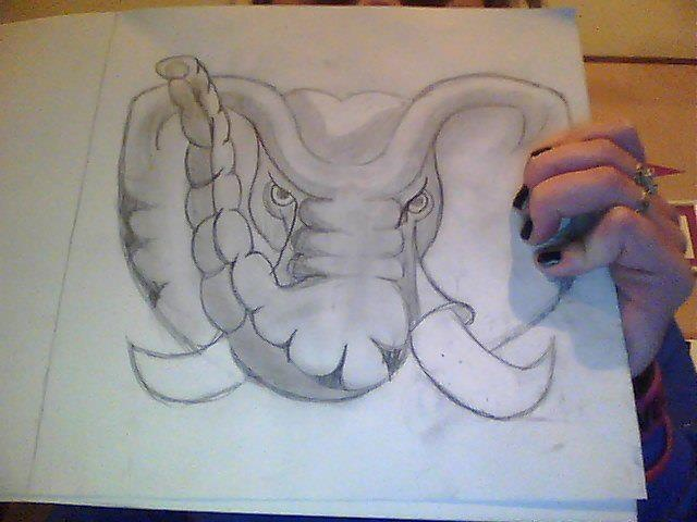 alabama elephant #bigal #alabama #bama #elephant #drawing #art
