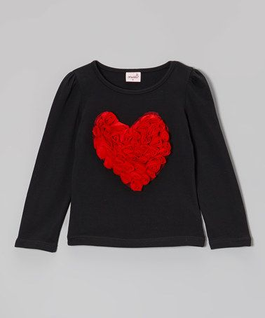 Look what I found on #zulily! Black & Red Heart Tee - Infant, Toddler & Girls #zulilyfinds