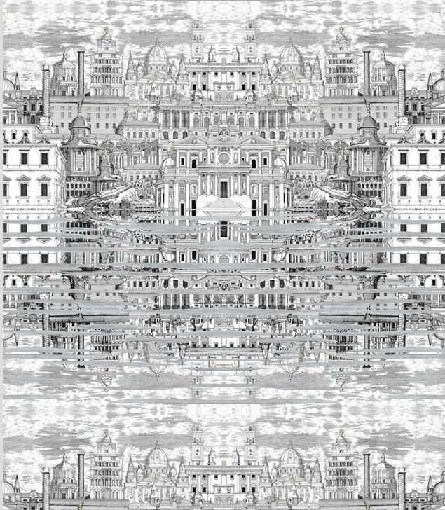 Fornasetti Riflesso Wallpaper by Cole & Son available through Lee Jofa