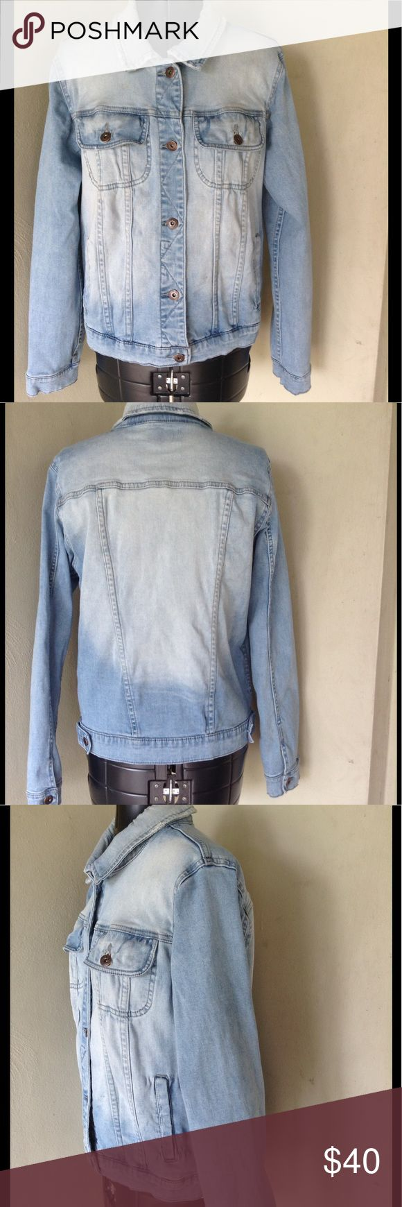 "ABS by Allen Schwartz denim jacket size L ABS denim jacket by Allen Schwartz. Light blue,slightly distressed,very soft to the touch. Pit to pit is 19"" and length is 22"".   Size Large. ABS Allen Schwartz Jackets & Coats Jean Jackets"