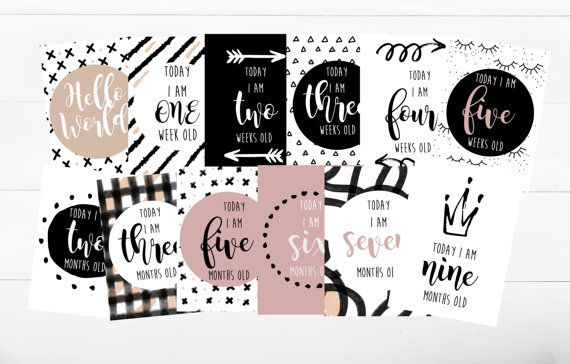Cute scandinavian style baby milestone cards in black white and blush pink for a baby girl.  Check out this item in my Etsy shop https://www.etsy.com/ie/listing/507239329/baby-milestone-cards-milestone-cards