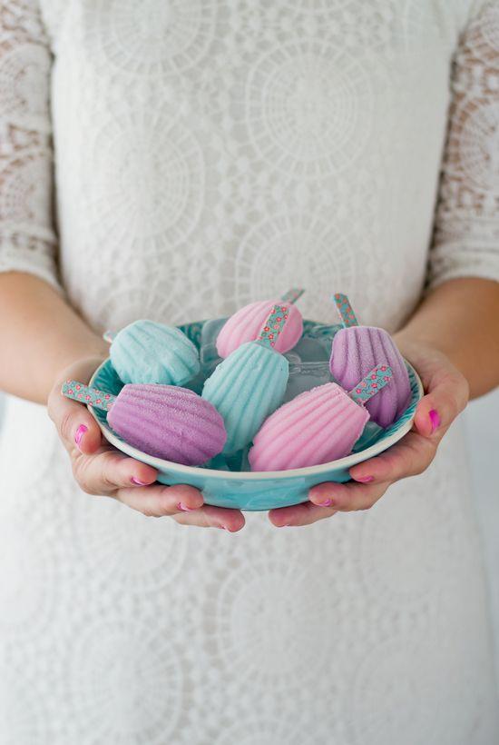 Helados madeleine con sabor a fresa y como hacer helados - Como hacer helados caseros ...