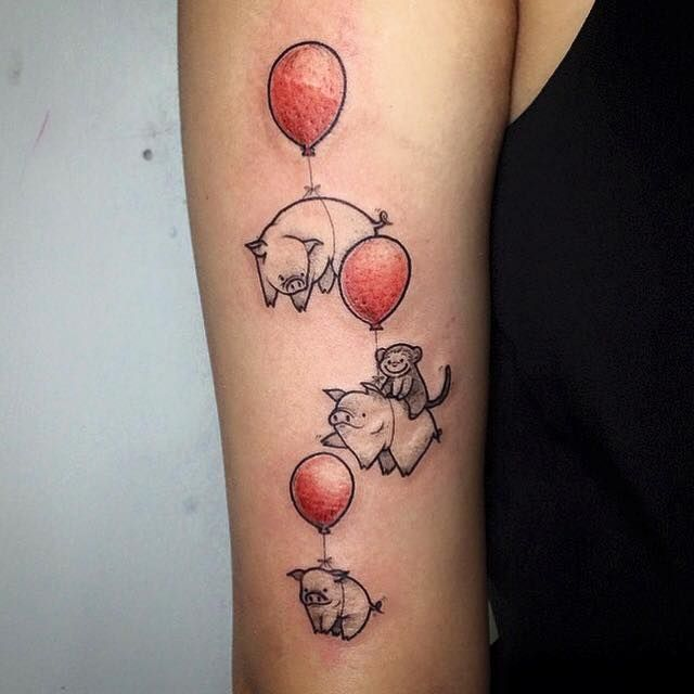 Flying pigs by Fin