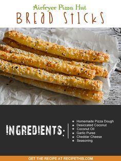 Airfryer Recipes | Airfryer Pizza Hut Bread Sticks from RecipeThis.com