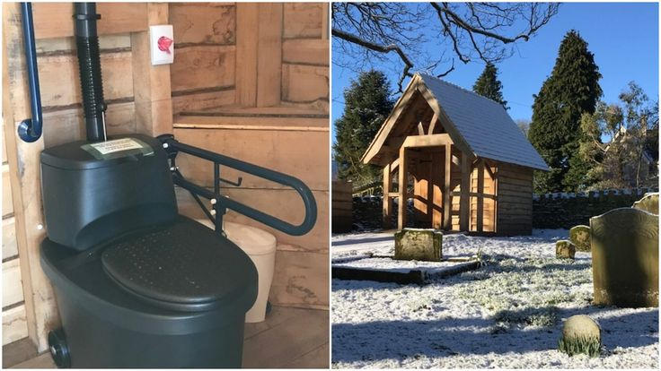 Biolan Separating Dry compost toilet installed in a grade 1 listed church in the Cotswold's without the need for any excavation. No water, no power, no problem :-)