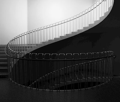 Susanne Kraft - Trappan, black and white photograph, staircase