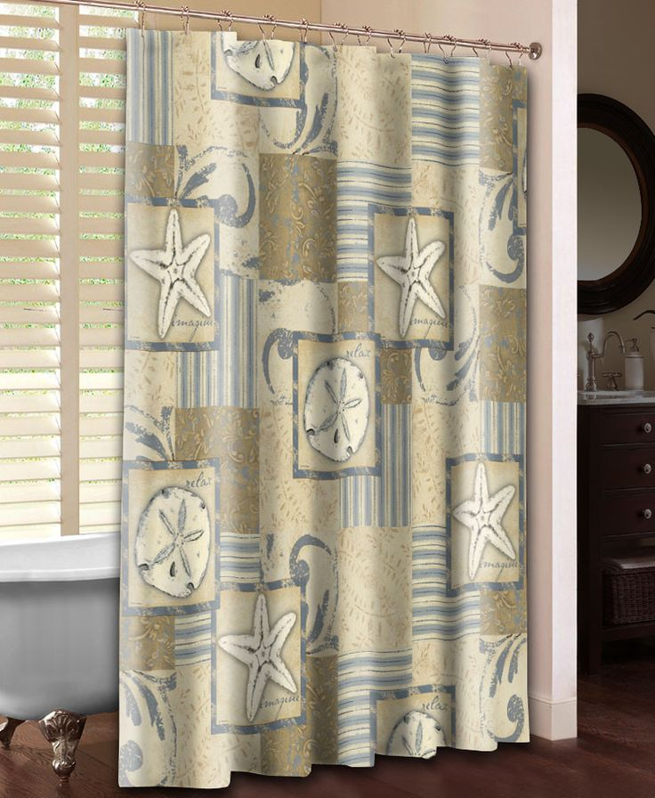 Neutral Coastal Shower Curtain