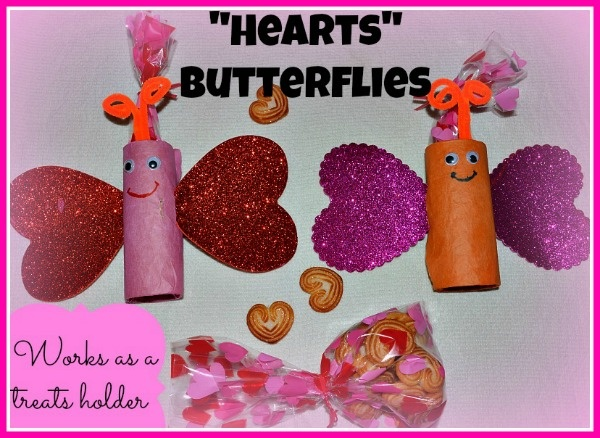 Valentines day crafts for kids paper roll butterfy treats for Valentines day ideas seattle