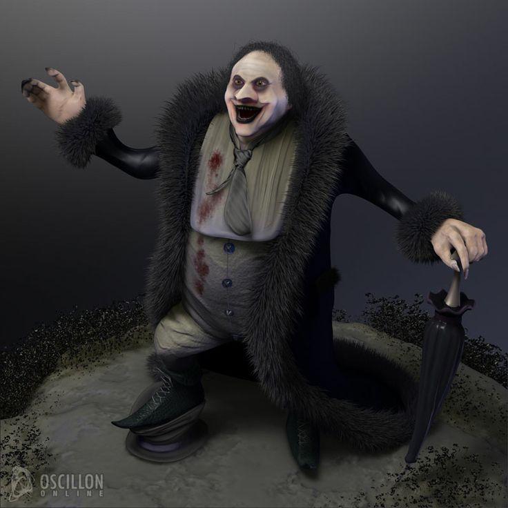 Galeria de trabajos Mario García Cantero. Modelado 3D del Pingüino de Batman.