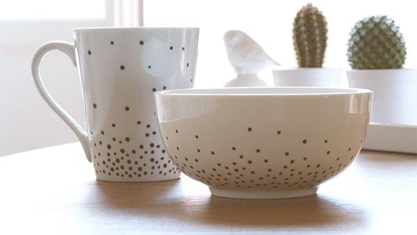 DIY - feutre pour porcelaine
