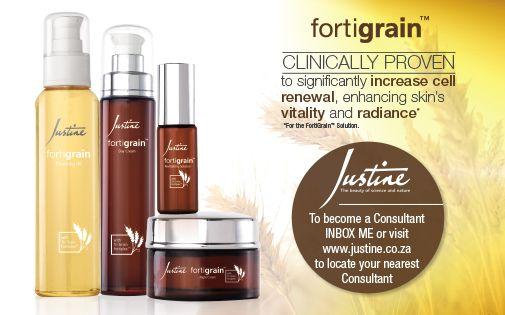 Justine Fortigrain Skincare Range