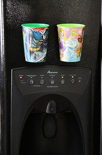 If your kids are always using new cups, give them their own designated cups with magnets to stick to the fridge