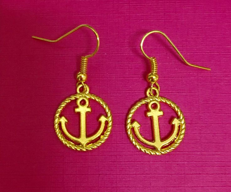 A personal favorite from my Etsy shop https://www.etsy.com/ca/listing/540455315/gold-anchor-earrings