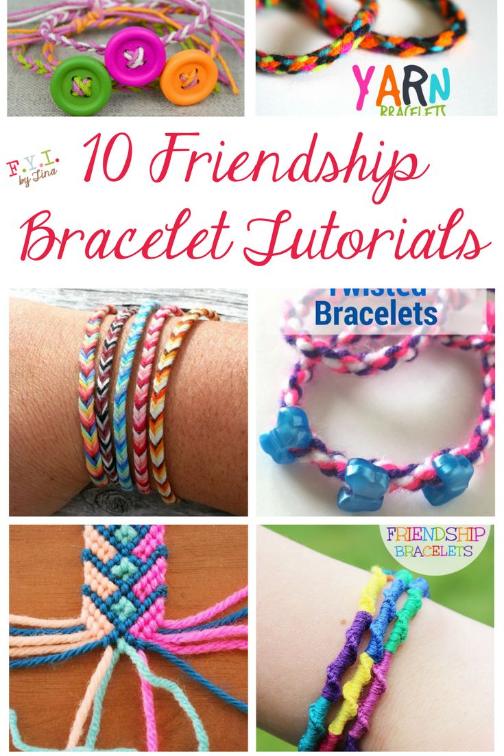 Kids love to make friendship bracelets! So, I decided to do a little searching to find different tutorials on making friendship bracelets.
