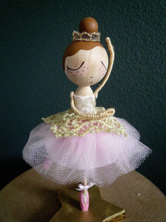 Custom Ballerina Birthday Cake Topper for a boy or girl.