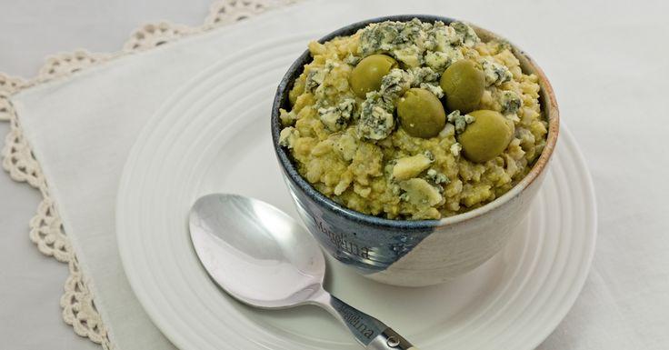 Risotto olive verdi e formaggio