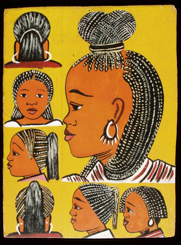 Hand painted hairdresser's sign, Togo, 1990s
