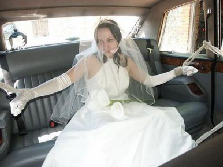 night Attacked wedding bride bondage