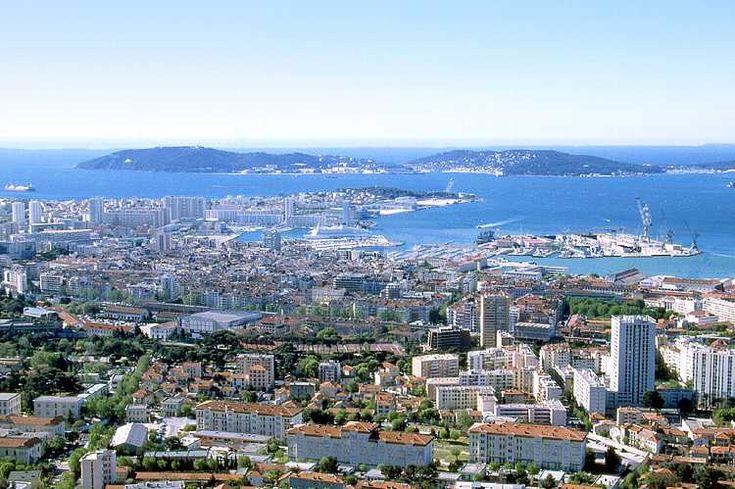 Toulon vue du Mont Faron - Var - France