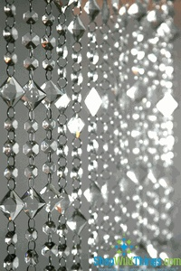 Aces and Eights Crystal Bead Curtain