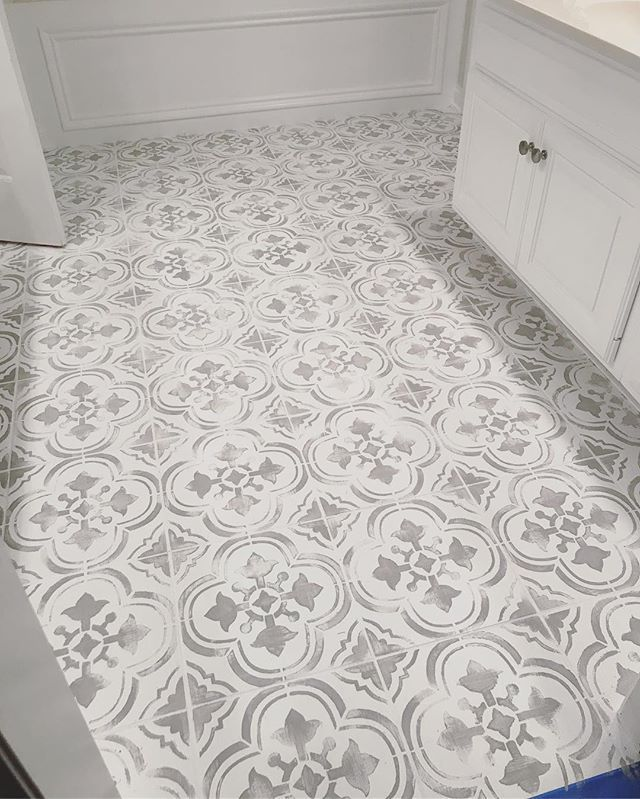 Santa Ana Tile Stencil Tegels Badkamer Makeover Diy Vloeren