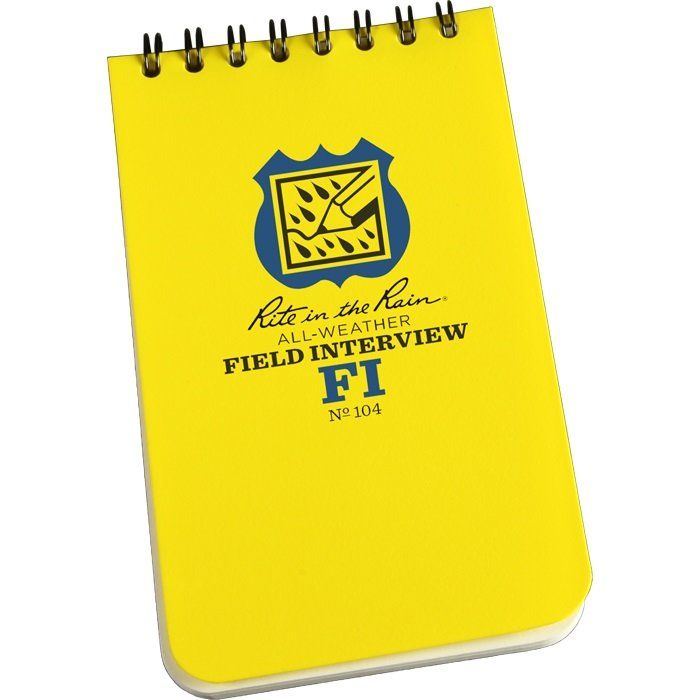 Police & Law Enforcement All Weather Field Interview Pocket Notebook http://www.cmcgov.com/store/pc/viewPrd.asp?idproduct=562&idcategory=0