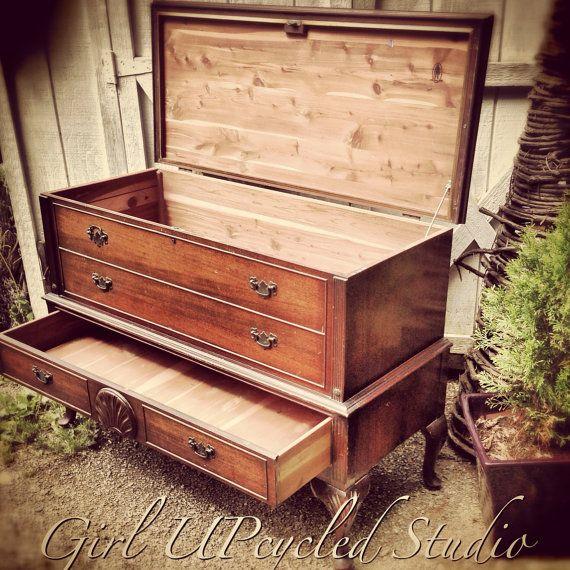 CUSTOMIZE+MEVintage+Cavalier+cedar+chest+dresser+by+girlUPcycled,+$425.00