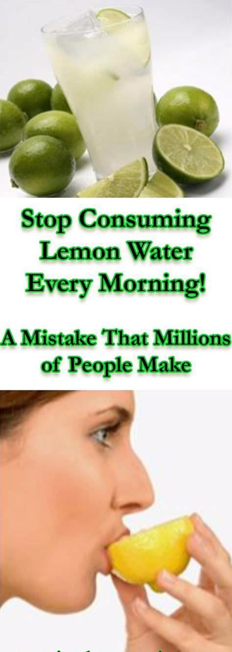 Stop Consuming Lemon Water Every Morning! – A Mistake That Millions of People Make  #lemon #consuming #water #morning #healthy