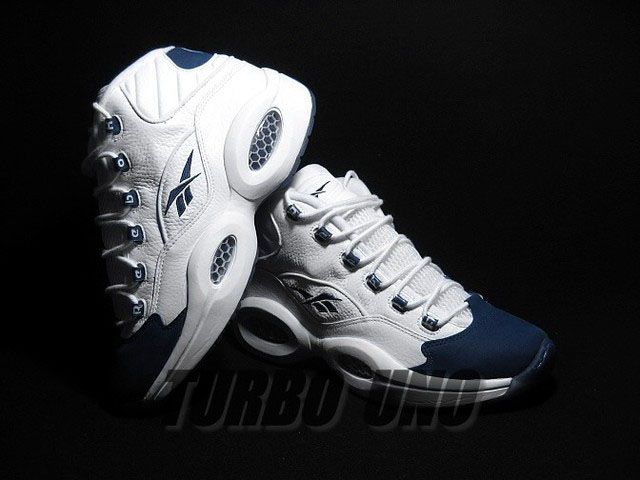 Reebok Question White/Navy Suede